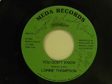 Lorine Thompson signed 45 YOU DON'T KNOW bw I FOUND TREASURES IN GOD VG++ gospel