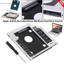 9.5mm SATA 2nd Hard Disk Drive HDD SSD Caddy for Apple MacBook Pro iMac Mac Mini