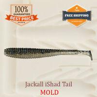 Jackall iShad Tail Shad Fishing Mold Swimbait Lure Bait Soft Plastic 50 mm