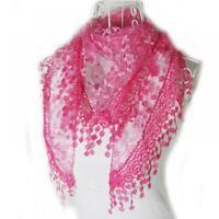 Tassel Shawls And Scarves Ladies Flower Lace Triangle Bandana Silk Fashion Wraps