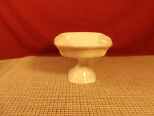 "Lenox China Brittany Collection Small Footed Compote 4 1/4"" T x 5 1/4 W"
