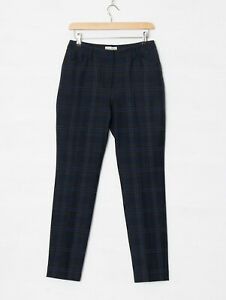 New Phase Eight UK 10 Blue Green Check Tartan Tailored Trousers