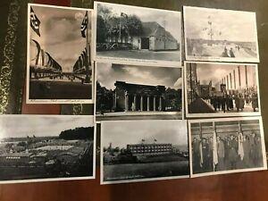 8 WW2 Third Reich German postcards flags buildings