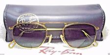 RAY-BAN *NOS VINTAGE B&L Mod-AVIATOR W2001 Pinpoint Etched *NEW SUNGLASSES&CASE