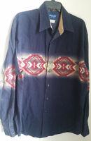 Wrangler Mens Western XL Shirt - Pearl Snap Long Sleeve