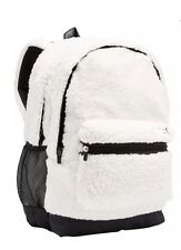 NWT Victorias Secret PINK CAMPUS BACKPACK SHERPA SNOW WHITE Cozy Fuzzy