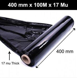 Black Stretch Shrink Film Pallet Wrap 500mm x 200m 25mu FAST DELIVERY