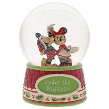 Under the Mistletoe JIM SHORE Schneekugel Enesco Disney Traditions XMAS 4060275