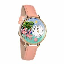 Flamingo Pink Leather Watch Whimsical Watches Women's G0150001