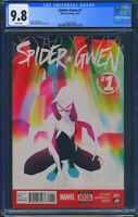 Spider Gwen 1 (Marvel) CGC 9.8 White Pages Premier issue Jason Latour story