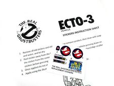 THE REAL GHOSTBUSTERS 'DIE CUT' REPLACEMENT STICKERS for KENNER ECTO-3 Ecto 3