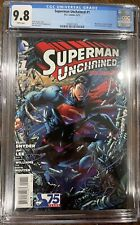 Superman Unchained #1 CGC 9.8 - Jim Lee Cover & Art - 2013 Justice League