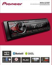 Pioneer Bluetooth Car Stereo Receiver Single Din Dash Am/Fm Radio Audio System