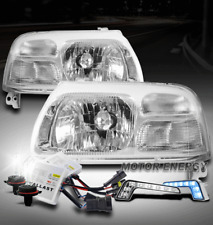 FOR 99-04 SUZUKI VITARA/02-03 XL-7 CHROME HEADLIGHTS HEADLAMP W/BLUE DRL LED+HID