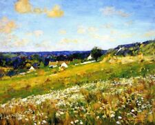 Summer Giverny by Alson Clark Fine Art Canvas Print From Painting Small 8x10