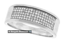 mens diamond wedding ring .30-carat micro pave bling 925 white ice out man