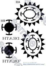 New Cosplay Body Art Tattoo seal Sticker ONE PIECE Trafalgar Law F/S