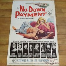 """Cameron Mitchell & Barbara Rush SIGNED """"No Down Payment""""  1957  All Star Cast"""