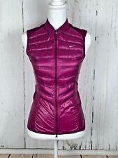Nike Aeroloft Running Vest Womens Magenta 800 Goose Down Lightweight $280 XS