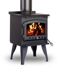 Bare Outdoors Freestanding Heavy Duty Steel & Cast Iron Wood Heater