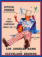 1951 Los Angeles Rams vs Cleveland Browns Football Travel  Advertisement Poster