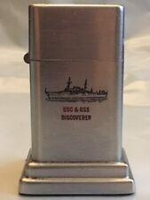 ZIPPO Barcroft #4 Vintage Table Top Lighter (USC & GSS Discoverer) Felt Intact
