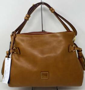 Dooney & Bourke Medium Florentine Leather Zip Hobo ~ Natural