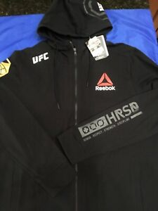 UFC MMA Mens LARGE Walkout HOODIE JACKET Reebok GILBERT CLARKE Brand New