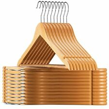 Lotus Wooden Hangers 20 pack  Solid Wood Suit With Extra Smooth Finish Clothes