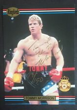Tommy Morrison Signed 1991 Ringlords  Card # 9 Le /150 Gold Auto The Duke Rocky