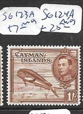 CAYMAN ISLANDS (PP1801B) KGVI  1/- FISH SG 123A   MOG