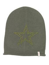 (p34) finemente lavorato a maglia Berretto Freaky testa Beanie Inverno Cappello con Big Star GUARNIZIONE CON STRASS