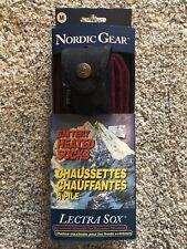 New Pair Nordic Gear Lectra Sox Gray Hiking Outdoor Battery Heated Socks Medium