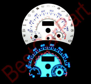 98-04 Volkswagen Beetle BLUE INDIGLO GLOW WHITE GAUGES