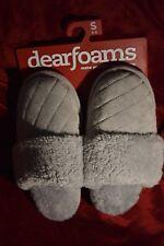 NEW Women's Dearfoams Sleet Grey Gray  Small 5 - 6 Slippers Size S SML
