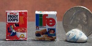 Dollhouse Miniature FOOD Breakfast Cereal Box Set 2 1:12 FLLF H85 Dollys Gallery