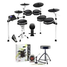 Alesis DM10 MKII Pro 10-Piece Electronic Drum Kit w/ Headphones Pedal Throne