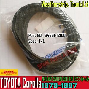For 79-87 Toyota Corolla KE70 2,4-Dr Trunk Luggage Rubber Seal Weatherstrip T/L