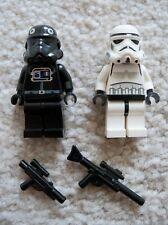 LEGO Star Wars - Rare Original - Stormtrooper & Tie Pilot w/ Weapons - Excellent
