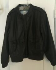 VINTAGE Men's Leather Bomber A-2 Jacket Brown XL. Durkee's Flight COAT