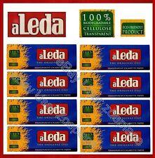 8 Packet (240) aLeda Blue Extra Slim Transparent Cigarette Rolling Paper ~NEW~