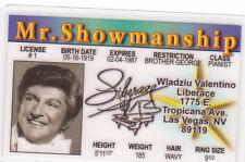 LIBERACE / Tropicana Ave Las Vegas Nevada NV card Drivers License  Heger