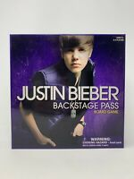 Justin Bieber Backstage Pass Board Game Bravado 2010 In Excellent Condition