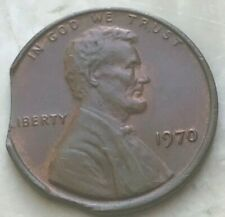 1970 Lincoln Cent - Double Clip Error - Thick PVC Gives Nice Reverse Sheen
