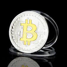 Hot Gold + Silver Physical Bitcoin BTC Art Collection Miner Souvenir Gift UK