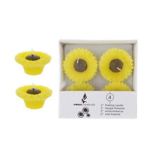 "Mega Candles - Unscented 2"" Floating Sun Flower Candles - Yellow, Set of 12"