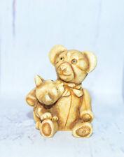 Harmony Ball Qt's Bear Hug Qtte Teddy Bear & Kitty Hugging Figurine Nib