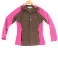 Columbia Women's Brown and Pink Zip Up Fleece Jacket - Size Small