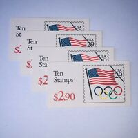 Scott# BK186a #2528a 1991 Olympic RIngs Booklet of Ten 29c Stamps