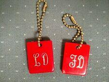 Lot of 2 Vintage Nevada Club Las Vegas Keychains 1952, 1962